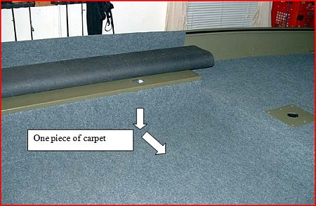 installed carpet edge