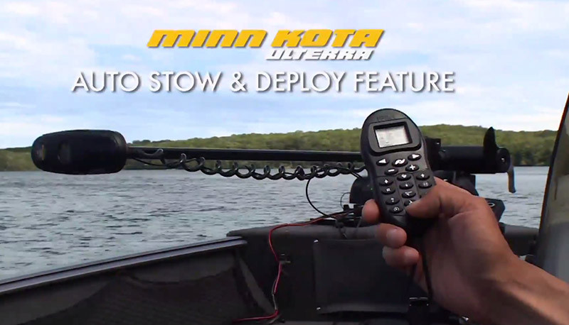 Minn kota ulterra for Auto launch trolling motor